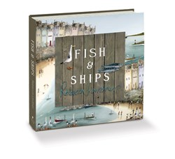 Fish and Ships (Open Book) by Rebecca Lardner - Book sized 10x10 inches. Available from Whitewall Galleries